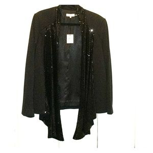 Calvin Klein Black sequin drape jacket
